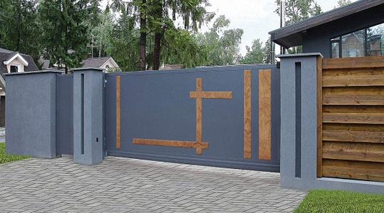 ворота фото в современном стиле